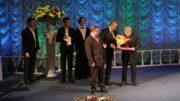 Писатель Анатолий Байбородин во время церемонии награждения © Официальный сайт правительства Иркутской области