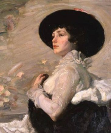 Ильин+Г.А.+Дама+в+черной+шляпе.+1870